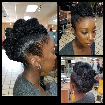 Natural hair care Collage